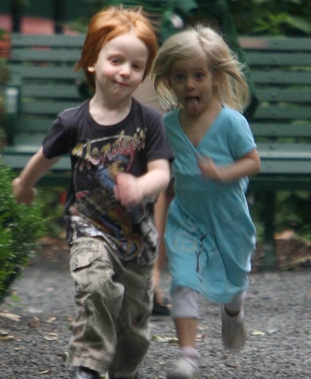 Phinnaeus, syn Julii Roberts, z siostrą Hazel  /Splashnews
