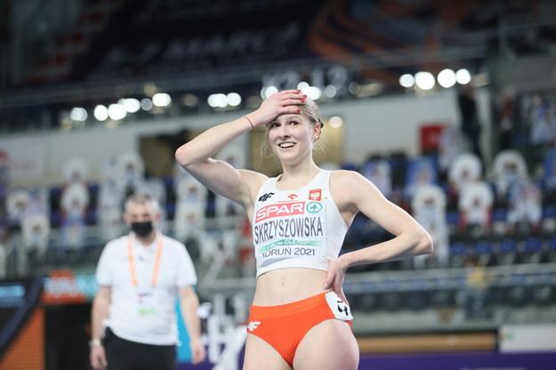 Pia Skrzyszowska z rekordem życiowym po półfinałowym biegu przez płotki na 60m kobiet na lekkoatletycznych halowych mistrzostwach Europy w Toruniu / Leszek Szymański    /PAP