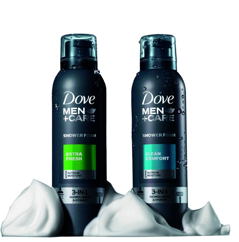 Pianki pod prysznic Dove Men /materiały prasowe