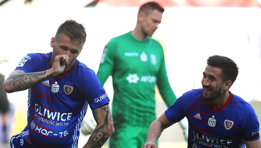 Piast Gliwice mistrzem Polski! Piast Gliwice - Lech Poznań 1-0 w 37. kolejce Ekstraklasy