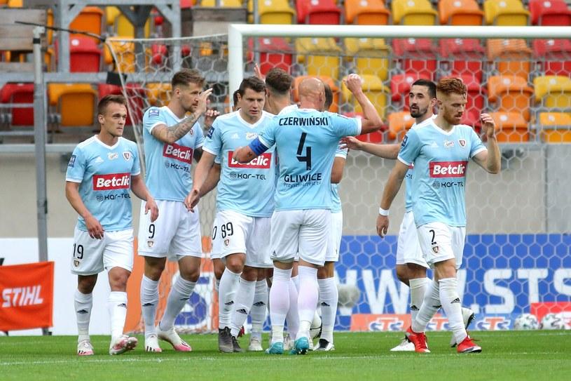 Piast Gliwice w meczu w Białymstoku z Jagiellonią / KAMIL SWIRYDOWICZ / CYFRASPORT/NEWSPIX.PL /Newspix