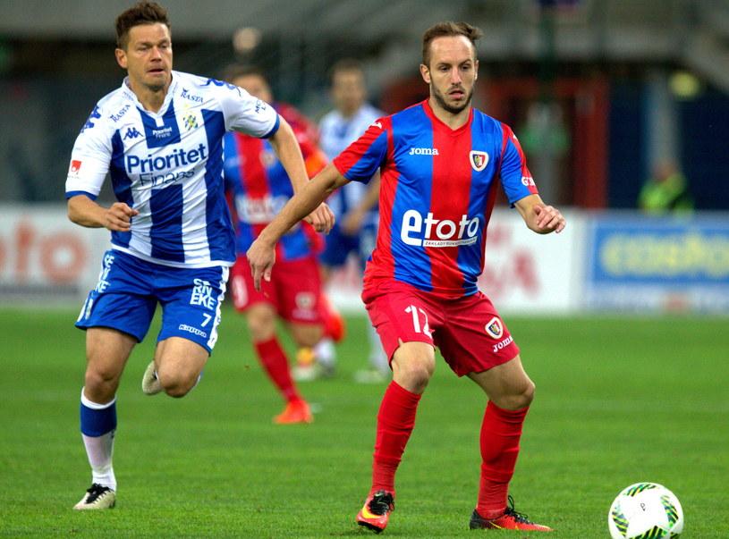 Piast przegrał wysoko z IFK /Fot. Andrzej Grygiel /PAP