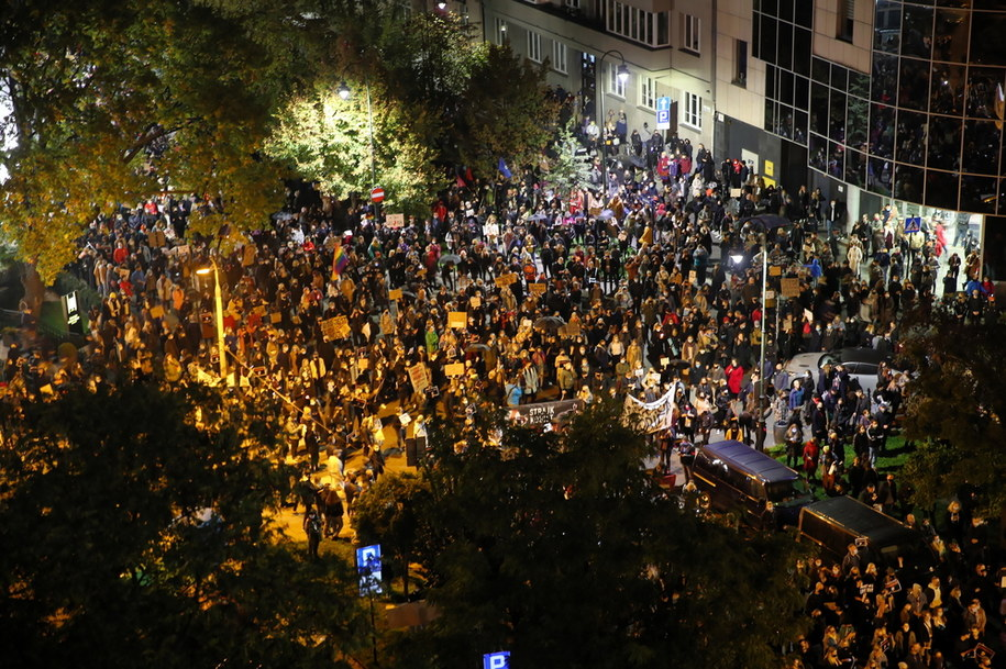 Piątkowy protest w Krakowie //Łukasz Gągulski /PAP
