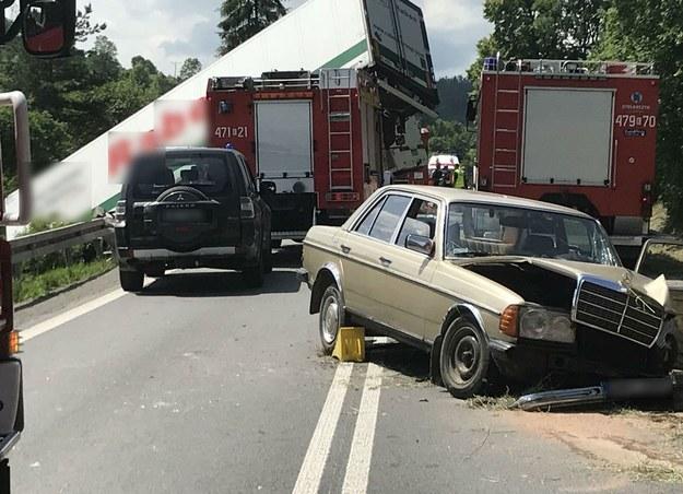 Piątkowy wypadek na zakopiance /Marek Wiosło /RMF FM