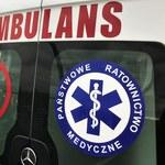 Pięć osób rannych w wypadku. Samochód zatrzymał się po uderzeniu w autobus