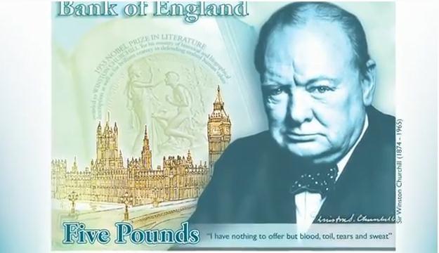 Pięciofuntówka z wizerunkiem Winstona Churchilla trafi do obiegu w 2016 r. fot. bankofengland.co.uk /