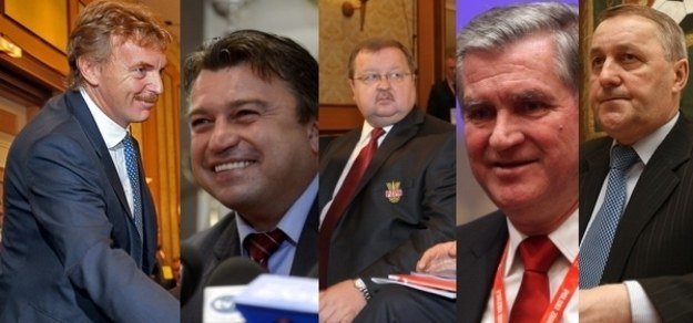 Pięciu kandydatów na prezesa PZPN /INTERIA.PL