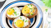 Pieczarki z przepiórczymi jajkami sadzonymi