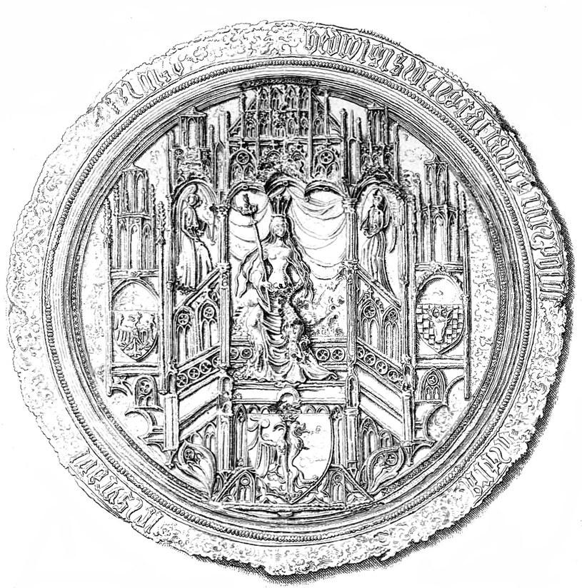 Pieczęć majestatyczna królowej Jadwigi (domena publiczna) /Ciekawostki Historyczne