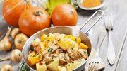 Pieczona dynia z ziemniakami i mięsem