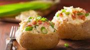 Pieczone ziemniaczki z boczkiem i serem
