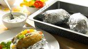 Pieczone ziemniaki z łososiem