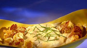 Pieczony kalafior z puree