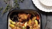 Pieczony kurczak z warzywami korzeniowymi