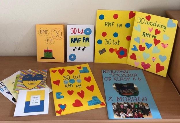 Piękne urodzinowe życzenia dla RMF FM od uczniów szkoły podstawowej w Morągu! /Piotr Bułakowski /RMF FM