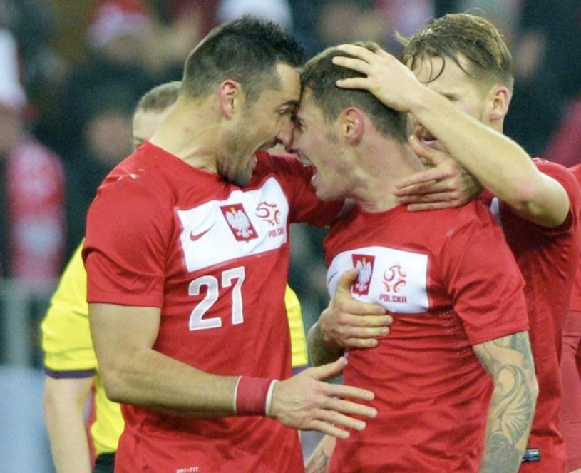 Piękny gol Ludovica Obraniaka (w środku) był tylko na osłodę /Adam Warżawa /PAP