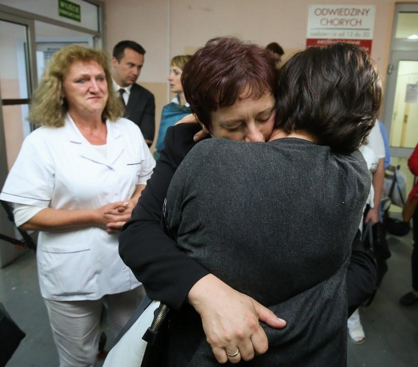 Pielęgniarki strajkujące w szpitalu powiatowym w Wyszkowie /Paweł Supernak /PAP