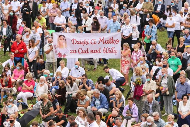 Pielgrzymi podczas uroczystości Wniebowzięcia Najświętszej Marii Panny /Waldemar Deska /PAP