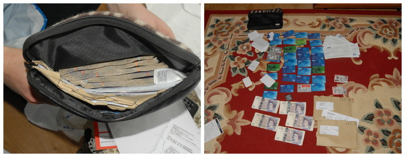 Pieniądze i karty bankomatowe zabrane ofiarom /WEST MIDLANDS POLICE  /PAP/EPA