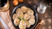 Pierogi gryczano - serowe okraszone cebulką