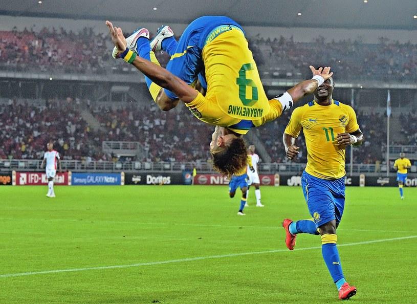 Pierre-Emerick Aubameyang cieszy się z gola dla Gabonu /AFP