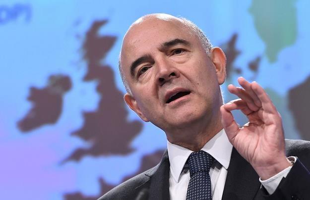 Pierre Moscovici, unijny komisarz ds. finansowych /AFP