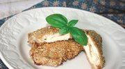 Pierś kurczaka w sezamie z serem korycińskim