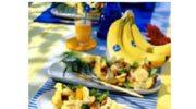 Pierś kurczaka z ananasem i bananami