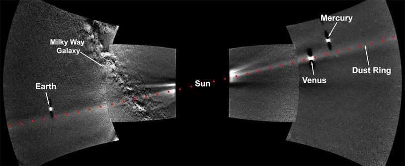 Pierścień pyłowy wokół Wenus /NASA