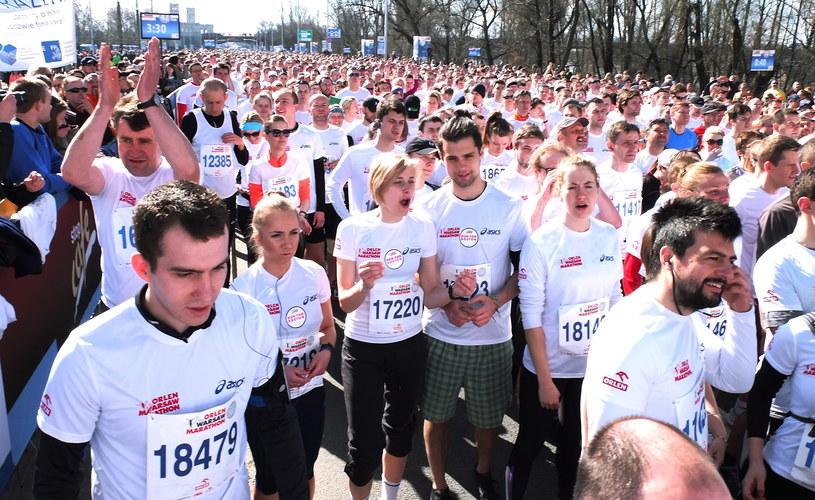 Pierwsza edycja Orlen Warsaw Marathon z 2013 roku /Tomasz Niesłuchowski /