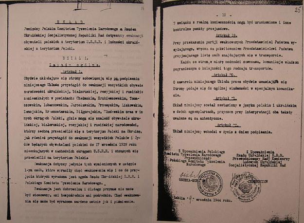 Pierwsza i ostatnia strona układu z Ukrainą fot. Domena publiczna /INTERIA.PL