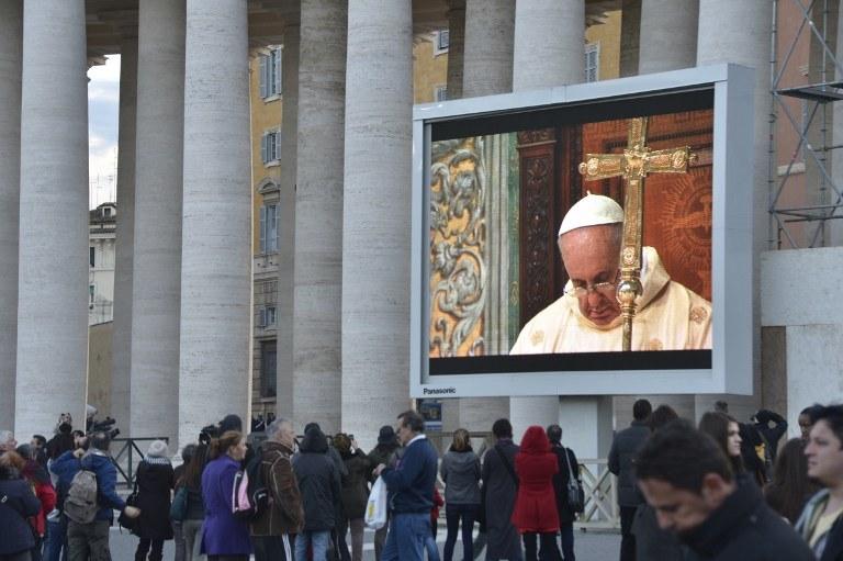 Pierwsza msza papieża Franciszka /AFP