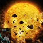 Pierwsza obserwacja gwiazdy pochłaniającej planetę