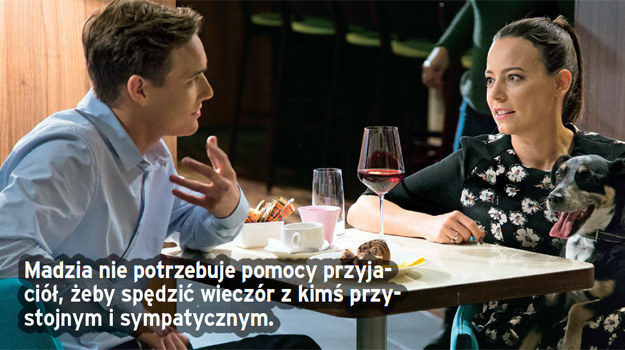 Pierwsza randka Madzi i Olka. /Świat Seriali