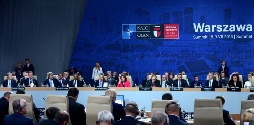 Pierwsza Sesja Rady Północnoatlantyckiej podczas szczytu w Warszawie /Jacek Turczyk /PAP