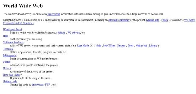 Pierwsza strona internetowa w 1992 roku /vbeta