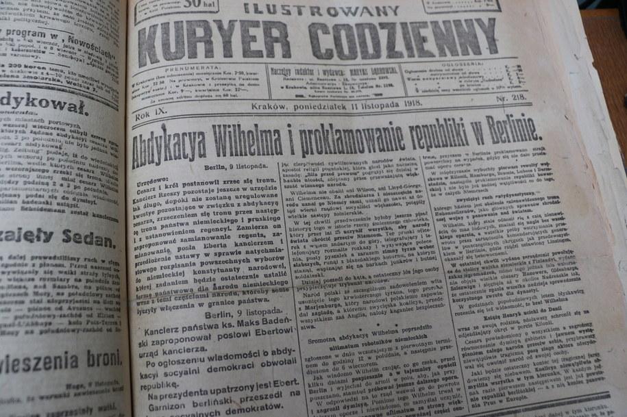 Pierwsza strona Kuryera Codziennego /Józef Polewka /RMF FM