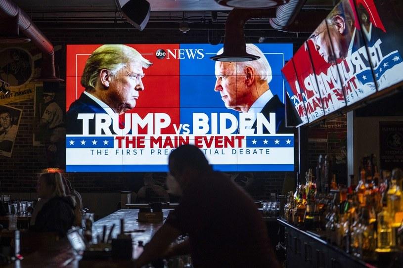Pierwsza telewizyjna debata przed listopadowymi wyborami prezydenckimi w USA / SARAH SILBIGER /AFP