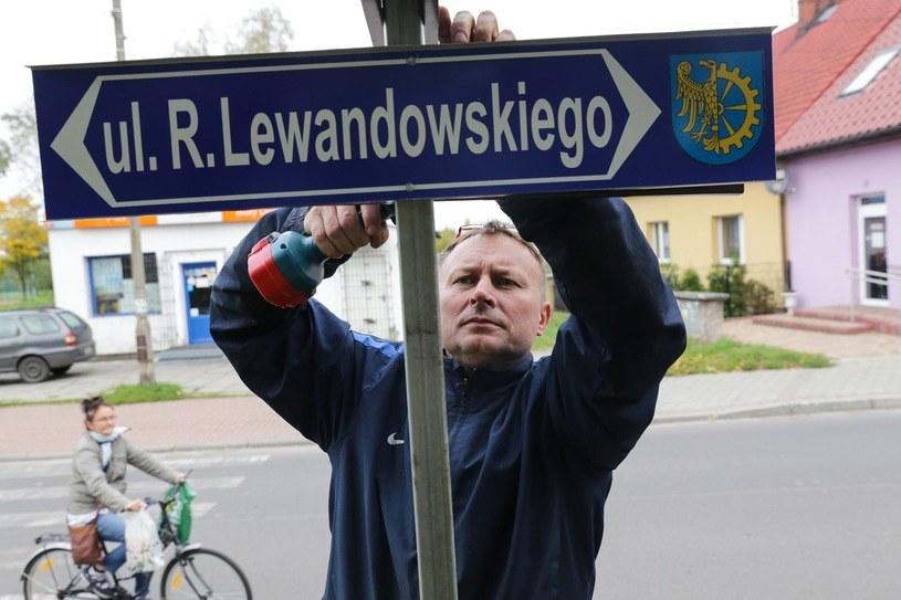 Pierwsza w Polsce ulica Roberta Lewandowskiego stała się faktem //Fot. Dominik Gajda/REPORTER/ /