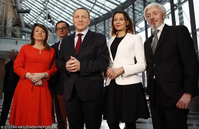 Pierwsza wizyta Jacka Kurskiego na Woronicza po otrzymaniu nominacji na stanowisko prezesa TVP /STEFAN MASZEWSKI/REPORTER /East News