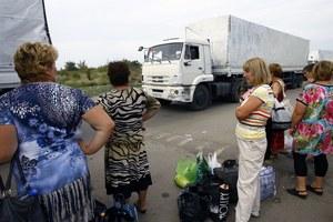 Pierwsze ciężarówki z rosyjskiego konwoju dotarły do Ługańska