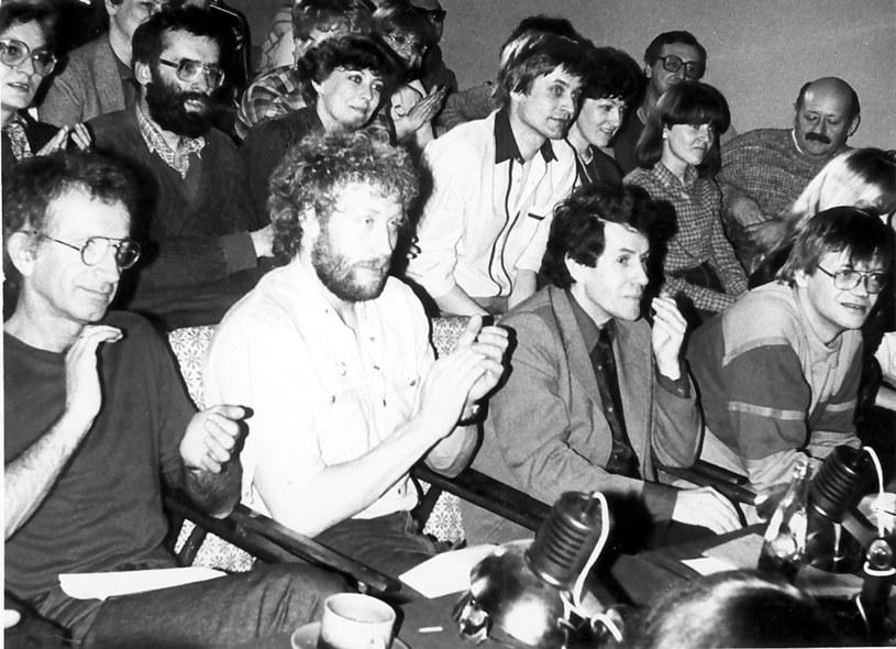 Pierwsze jury PAKI (Jacek Fedorowicz, Władysław Kozakiewicz, Lucjan Suchanek, Maciej Zembaty), 1985 / archiwum PAKI /materiały prasowe