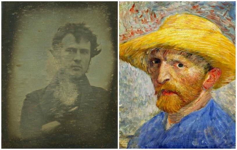 Pierwsze na świecie selfie Roberta Corneliusa i jeden z autoportretów Van Gogha /materiały prasowe