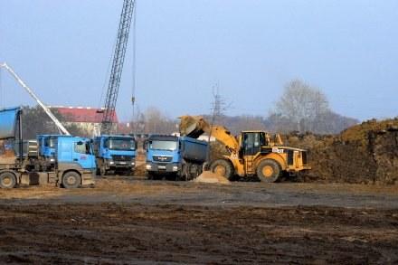 Pierwsze prace przy budowie stadionu we Wrocławiu. Fot. Krystyna Pączkowska. /Agencja Przegląd Sportowy