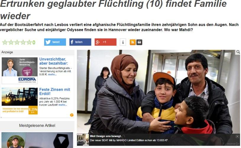 Pierwsze spotkanie rodziny po roku rozłąki /http://www.news.de/ /