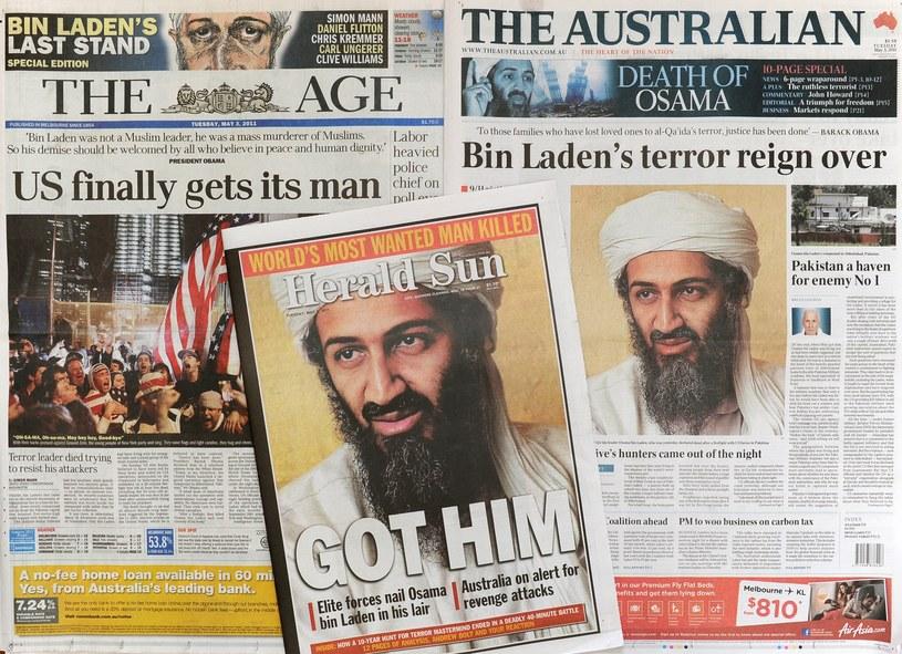 Pierwsze strony gazet po śmierci Osamy bin Ladena /WILLIAM WEST / AFP /AFP