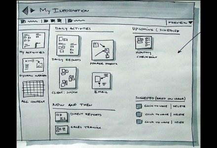 Pierwsze szkice projektujących interfejs Office 2007. /materiały prasowe