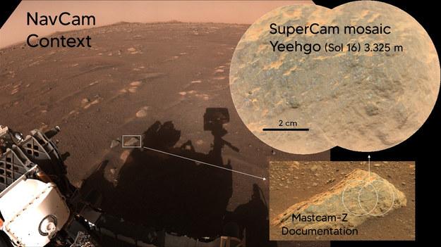 Pierwsze testy lasera z SuperCam /NASA/JPL-Caltech/LANL/CNES/CNRS/ASU/MSSS /Materiały prasowe
