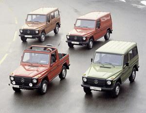 Pierwsze wersje Mercedesa G /Mercedes