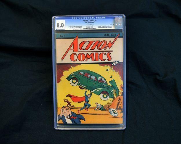 Pierwsze wydanie Action Comics 79 lat temu kosztowało 10 centów /fot. Timothy A. Clary /AFP